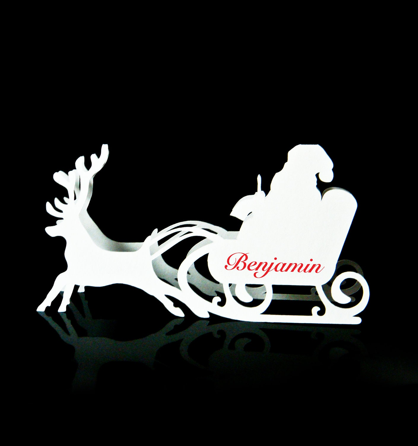 Simple santa sleigh silhouette